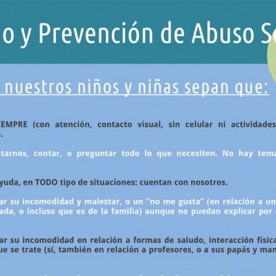 Tabla: cuidado y prevención de ASI