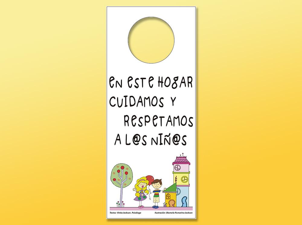 Campaña Cuelgapuertas por el cuidado de l@s niñ@s